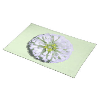 Placemat - Lemony White Zinnia
