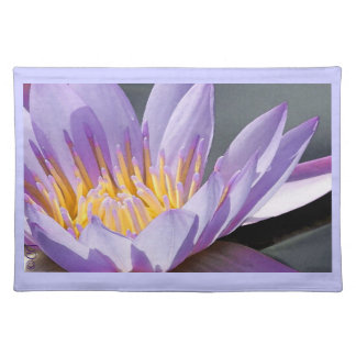 Placemat Purple Lavender Water Lily