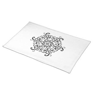 Placemats-Black and White Design Placemat