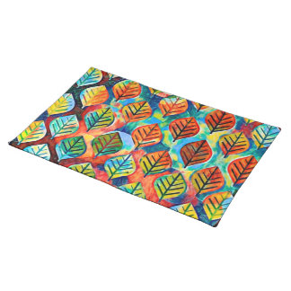 Placemats Colorful Leaves
