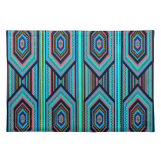 Placemats Mexican Inca Colored Stripe Teal Blue Place Mat