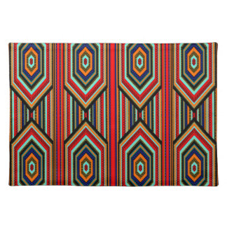 Placemats Mexican Red Teal Blue Orange Black Inca Placemats