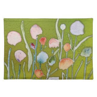 Placemats with abstract flowers