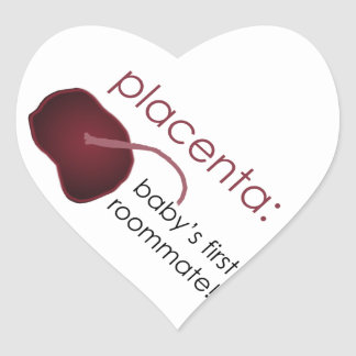 placenta, baby's first roommate heart sticker