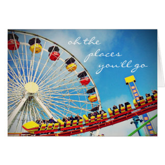 """Places"" huge ferris wheel photo blank inside card"
