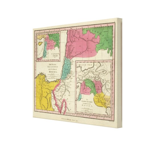 Places Recorded in the Five Books of Moses Canvas Print