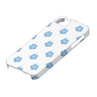 Placid Blue Flower Pattern 3 Case For iPhone 5/5S