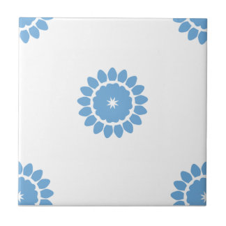Placid Blue Flower Pattern 4 Small Square Tile
