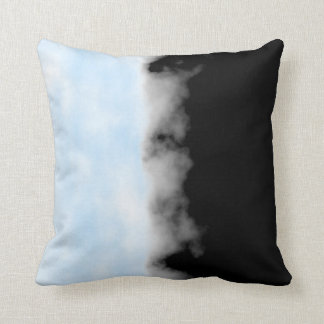 Placid Blue White Black Druzy Geode look Throw Cushions