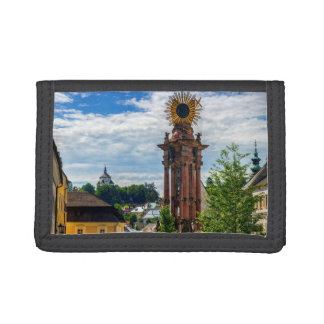 Plague column, Banska Stiavnica, Slovakia Tri-fold Wallet
