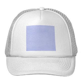 plaid32 LIGHT BLUE WHITE PLAID PATTERN TEMPLATE DI Trucker Hats