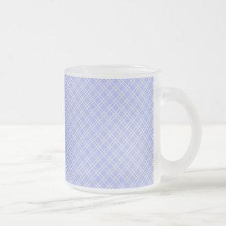 plaid32 LIGHT BLUE WHITE PLAID PATTERN TEMPLATE DI Coffee Mugs