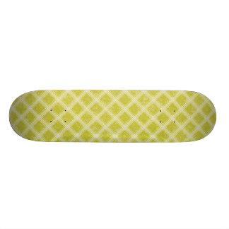 PLAID37 LIGHT YELLOWISH GREEN PLAID PATTERN TEMPLA SKATE BOARDS