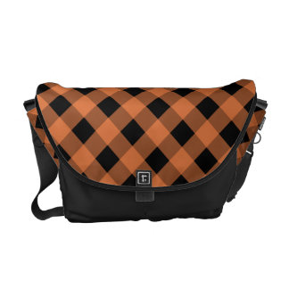 Plaid 1 Celosia Orange Courier Bag