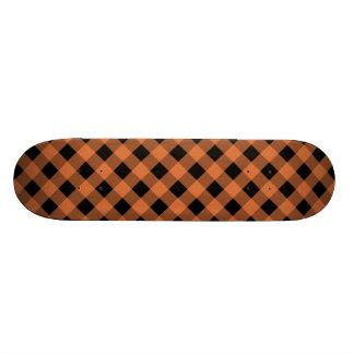 Plaid 1 Celosia Orange Skate Deck