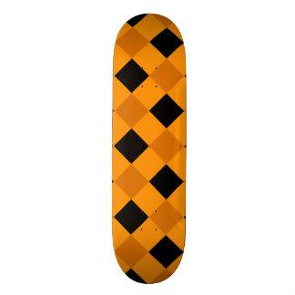 Plaid 1 Orange Custom Skate Board