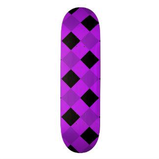 Plaid 1 Purple Skateboard Deck