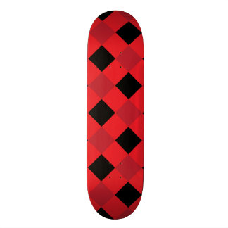 Plaid 1 Red Skate Board Deck