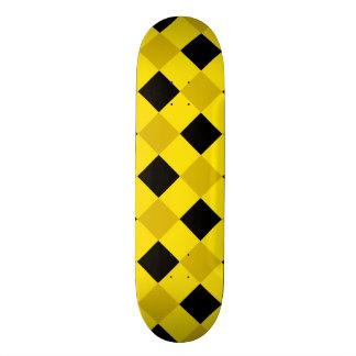 Plaid 1 Yellow Custom Skate Board