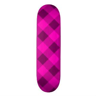 Plaid 2 Pink Skateboard Deck