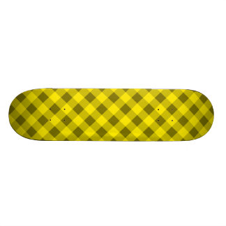 Plaid 2 Yellow Custom Skateboard