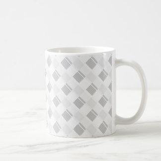 Plaid 3 Any Color White Basic White Mug