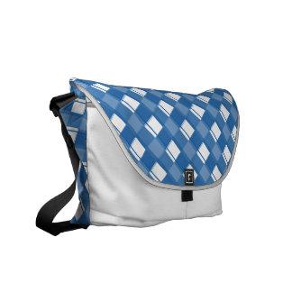Plaid 3 Dazzling Blue Messenger Bags