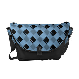 Plaid 3 Placid Blue Courier Bags