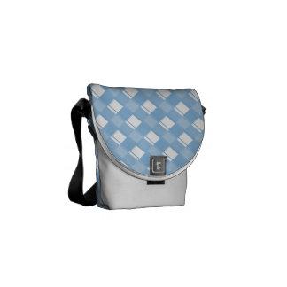 Plaid 3 Placid Blue Messenger Bags