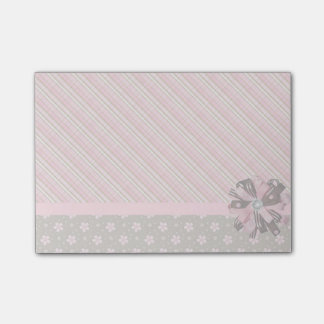 Plaid and flowers post-it notes