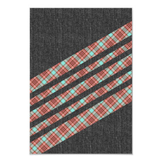 Plaid and Jean Stripes Card