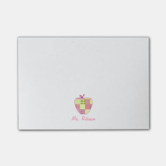 Plaid Apple Teacher Post-it Notes