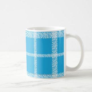 Plaid Aqua Coffee Mug