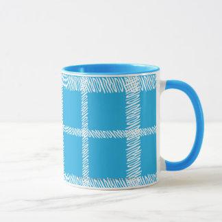 Plaid Aqua Mug