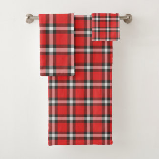 Plaid Bath Towel Set