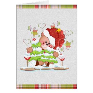Plaid Bear Christmas Card