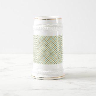Plaid Beer Stein