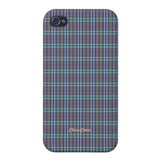 Plaid Blue Gray Green Pattern Savvy iPhone 4/4S Case