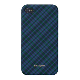 Plaid Blue Green Pattern Savvy iPhone 4 Covers