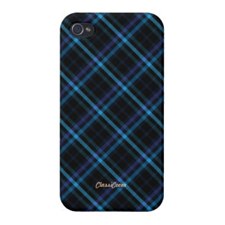 Plaid Blue Pattern Savvy iPhone 4/4S Cover