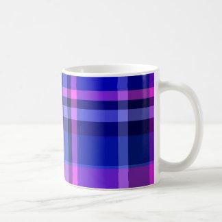 Plaid Blue Purple-Pink Coffee Mugs