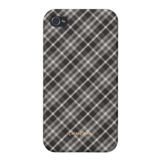 Plaid Brown White Pattern Savvy iPhone 4/4S Cover
