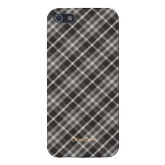 Plaid Brown White Pattern Savvy Cover For iPhone 5