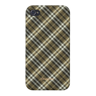 Plaid Brown Yellow White Pattern Savvy iPhone 4/4S Case