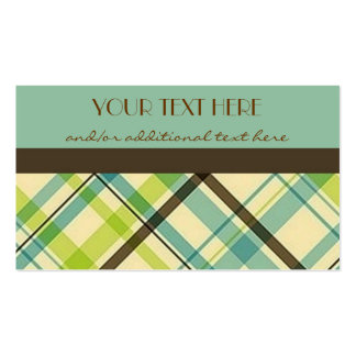 Plaid Pack Of Standard Business Cards