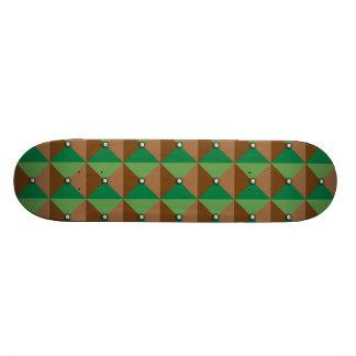 Plaid Button pattern Skateboard