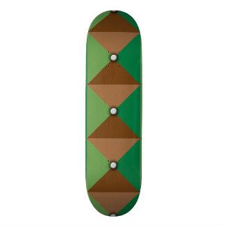 Plaid Button pattern Skateboard Deck