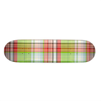 Plaid Christmas Bear Skate Board Decks