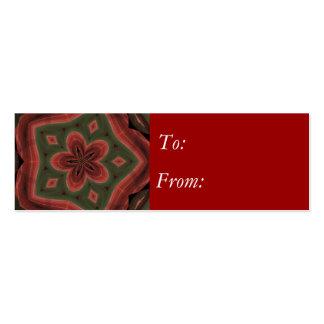 Plaid Christmas Flower Business Card Template
