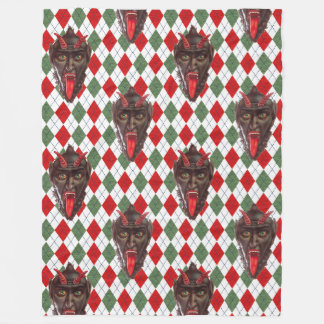 plaid christmas krampus blanket
